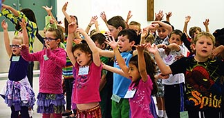 Seventy children at Edmonton's St. Thomas More Parish took part in a host of activities during the July 8 to 12 Vacation Bible School.