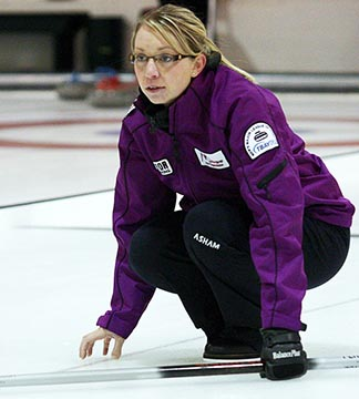 Catholic school teacher Krista McCarville has represented Ontario 4 times in the national women's curling championships.
