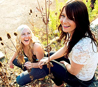 Sheila Carabine (right) and Amanda Walther, the acoustic folk pop duo known as Dala, met during their time in a Toronto Catholic high school.