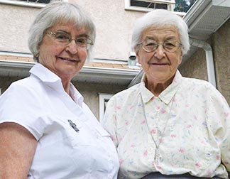 Srs. Pat Halpin and Yvonne McKinnon are two of the six retired Sisters Faithful Companions of Jesus currently living in Edmonton.
