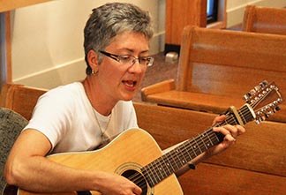 Coordinator Maria Kruszewski finds peace and joy in the Taizé prayer service.