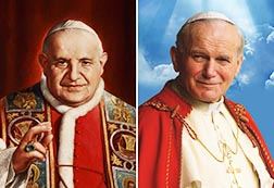 Pope Francis has set April 27, Divine Mercy Sunday, as the date for the canonization of Blessed John XXIII and Blessed John Paul II.