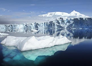 The Sheldon Glacier is seen in the Antarctica. Climate change is causing the world's glaciers to melt at an unprecedented rate.