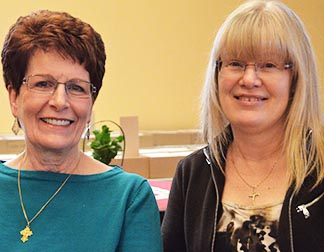 Pat Heck and Alana LaPerle are leaders in the Alpha program which is bringing Catholics back to active participation in Sherwood Park's Our Lady of Perpetual Help Parish.
