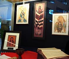 The City Hall exhibit shows the interplay between aboriginal and Christian tradition.