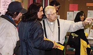 Fr. Yvon Levaque celebrated his 90th birthday in 2005 by working at the soup kitchen he ran at Edmonton's inner city Bissell Centre.