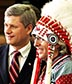 Canada's Prime Minister Stephen Harper & Assembly of First Nations Chief Phil Fontaine
