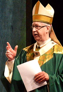 Archbishop Richard Smith speaks at Edmonton Catholic Schools' Faith Development Day Feb. 4.