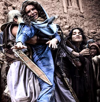 Roma Downey plays Mary, the mother of Jesus, in the movie Son of God.