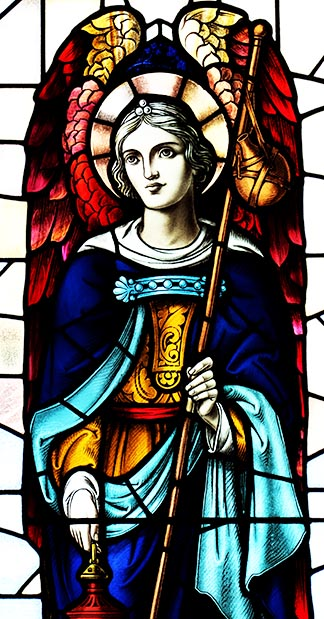 This stained glass of St. Raphael has been installed in a west-end Toronto church.