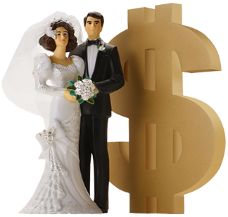 It can cost a lot of money to get married. But it costs a lot more not to be married.