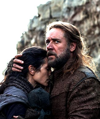 Jennifer Connelly and Russell Crowe star in a scene from the movie Noah. The film is one of several biblical epics Hollywood is expected to release in coming weeks.