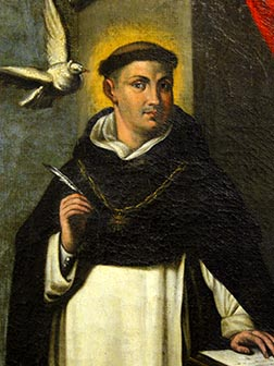 St. Thomas Aquinas' theory of natural law provided a foundation for Human rights.