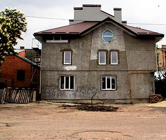 Home of Hope in Lyiv, Ukraine, stands in an unfinished state.