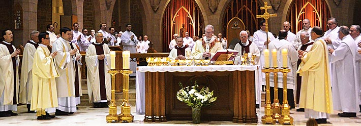 The annual Chrism Mass celebrates the unity of the priesthood as well as the unity of the diocesan Church.