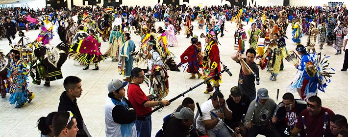 Roughly 2,500 people attended the 33rd annual Ben Calf Robe School Powwow held May 10 at the Commonwealth Recreation Centre in Edmonton.