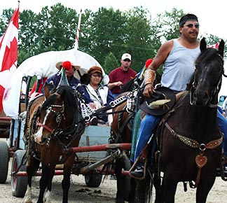 The Lac Ste. Anne Pilgrimage, founded in 1887, is an event both colorful and religious.