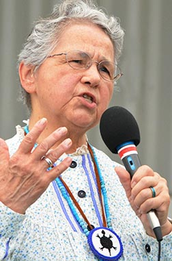 Sr. Kateri Mitchell says St. Kateri Tekakwitha is 'the woman who brings her people together.'