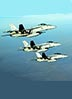 US Navy F-18E Super Hornets