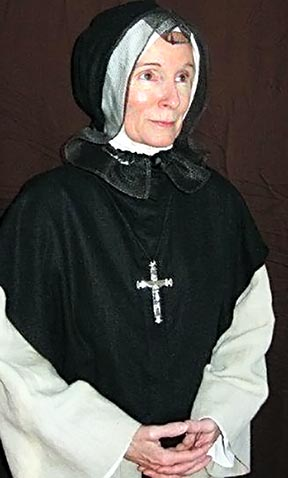 Maureen Rooney plays the lead character in Interview History of St. Marguerite d'Youville.