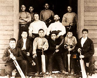 Residential schools imposed an alien culture. At this school, students learned to play cricket.
