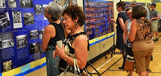 About 500 people attended the 100th anniversary celebration of Edmonton's Grandin School June 5, many taking time to enjoy a large display of photos and other memorabilia.