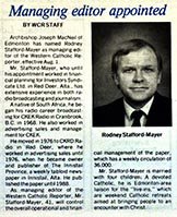 Rod Stafford-Mayer, 1990