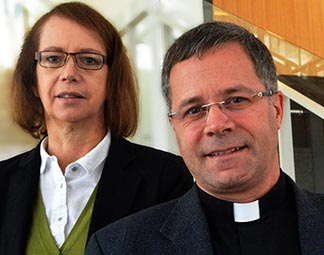 Doreen Bloos and Fr. Robert Gauthier are part of the enculturation team that helps with foreign priests' adjustment to Canada.