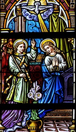 Just as the angel Gabriel urged Mary to rejoice at the Annunciation, so joy is one of the Spirit's gifts for those living in God's kingdom.