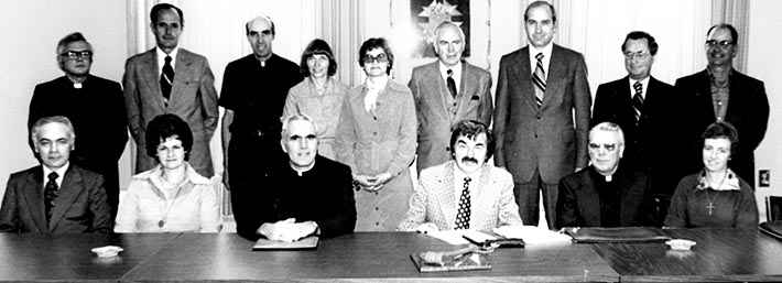 The WCR's board of directors - the 1976 instalment is shown here - was one way in which the newspaper maintained close ties with readers in the Edmonton Archdiocese.