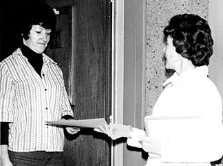 The WCR conducted several readership surveys over its history. In this 1972 survey, CWL members delivered surveys to readers in their homes and picked up the completed ones.