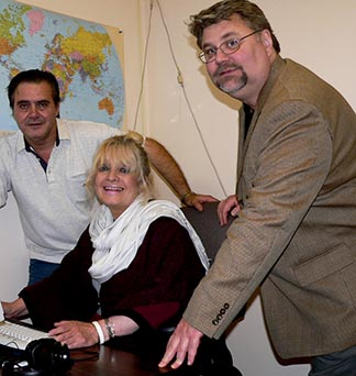 Editorial staffers Ramon Gonzalez, Lasha Morningstar and Bill Glenn are shown here in 2006.